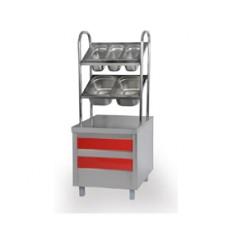 Прилавок для столовых приборов, хлеба и подносов МЛОЭ/ПСХ (ОНЕГА)