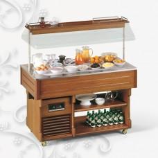 Стол шведский холодильный TECFRIGO BRINA 4M светлый орех