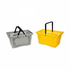 Корзина покупателя пластик 20 л. ME-соN094/R(2руч) желтая