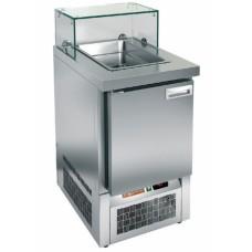 Стол холодильный для салатов (саладетта) HICOLD SLE3-1GN низкое стекло
