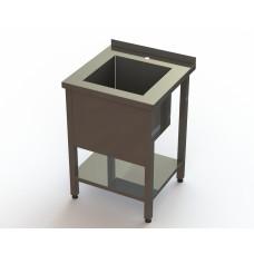 Ванна моечная 1 секционная сварная BM1 с полкой RestoArt 450х450х850