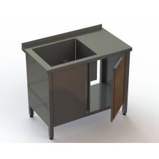 Ванна моечная 1 секционная BM1L с дверьми RestoArt 1000х600х850