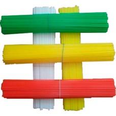Палочки пластиковые для сахарной ваты, разноцветные(100 шт.)
