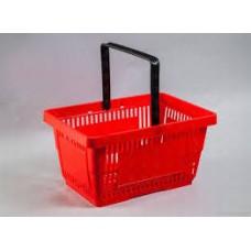 Корзина покупателя пластик 20 л. ME-соN094/R(1руч) красная