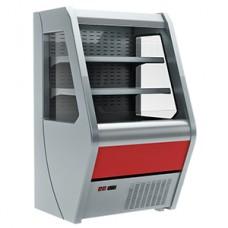 Витрина полувертикальная холодильная CARBOMA 1260/700 ВХСп-1,0