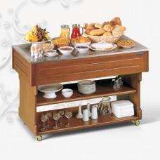 Стол шведский холодильный TECFRIGO TAVOLO 1400 темный орех