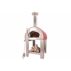 Печь для пиццы ALFAPIZZA на дровах 5 MINUTE красный антик